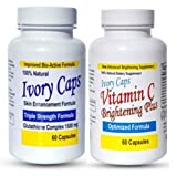 Ivory Caps Skin Whitening Lightening 1500mg Glutathione Support Pill + Vitamin C Brightening Plus by YouLookLight