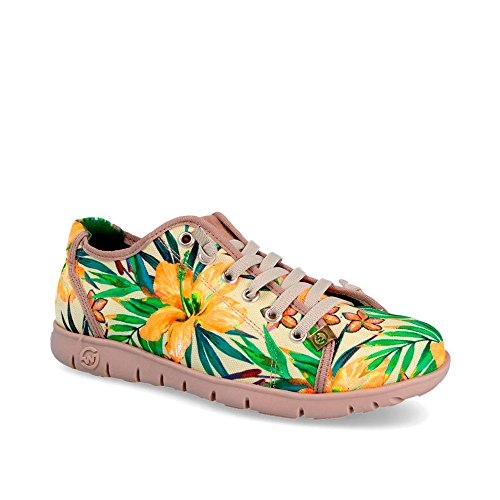 54a605e46739 Outlet Sneaker Zapatilla Mujer Teemo-W Tropical Beige BISCOTO ...
