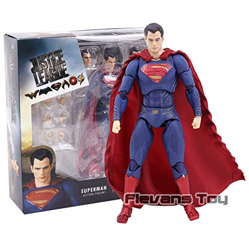 VIET FG DC Superman MAFEX 057 Justice League Superman Action Figure Collection Model BJD Gift Toys- Gift for Your Kids