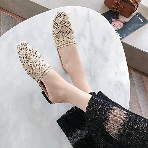 KPHY Scarpe da donna/Le Pantofole In Estate Tessuti A Maglie (Pane Fondo Piatto Pantofole Scarpe Da Donna.35 Colore...