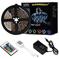 SUPERNIGHT 5M/16.4 Ft SMD 3528 RGB 300 LED Color Changing...