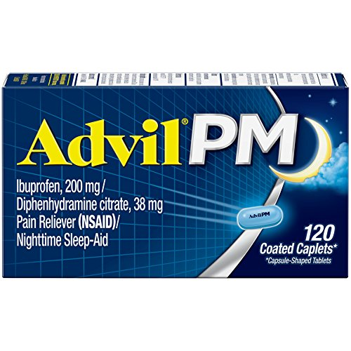Advil-PM-120-Count-Pain-Reliever-Nighttime-Sleep-Aid-Caplet-200mg-Ibuprofen-38mg-Diphenhydramine