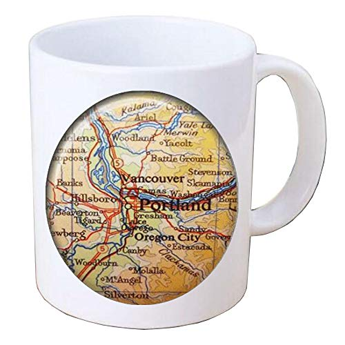 Portland Map Coffee Mug,Portland Coffee Mug Map Jewelry.Travel Gifts For Her,Bridesmaid Coffee Mug,BV371]()