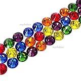 144 pcs (1 gross) Swarovski 2058 Xilion / 2088 Xirius Rose crystal flat backs No-Hotfix rhinestones nail art RAINBOW Colors Mix ss12 (3.1mm) **FREE Shipping from Mychobos (Crystal-Wholesale)**