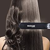 Steam Hair Straightener For Argan Oil Infusion Treatment 2 In 1 StraightenCurl Professional Ceramic Tourmaline Flat Iron With Locking Switch 1 14 Vapor Conditioning Plates Matte Black