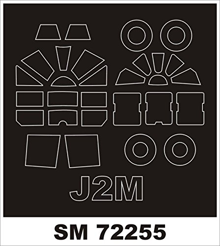 Raiden Mask - Montex Mini Mask 1:72 J2M Raiden for Sword Kit Spraying Stencil #SM72255