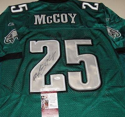 Amazon.com: Autographed LeSean McCoy Jersey - COA H90738 - JSA ...