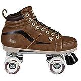 Chaya New Vintage Brown Neat Quad Roller Skates - Vegan (EU 40 / US 9)