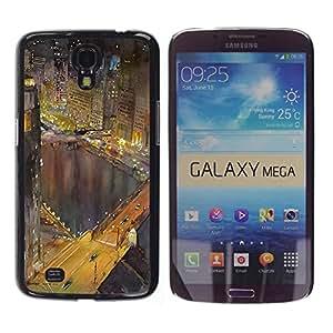 """Pulsar Snap-on Series Teléfono Carcasa Funda Case Caso para Samsung Galaxy Mega 6.3 , Hong Kong luces de la noche Edificios río"""""""