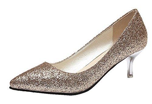 Ageemi Unie Femme Couleur Pointu Tissu Shoes IaaHRw