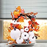 Likeny 16 PCS Fall Decor Artificial Pumpkins Fall