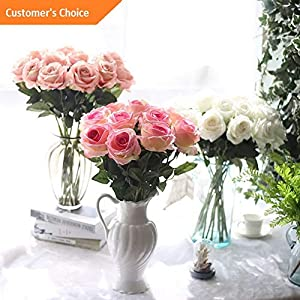 Hebel 10 Stems Artificial Floral Silk Fake Flower Bouquet Home Decor Wedding Decor 8   Model ARTFCL - 331   48