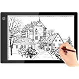 A4 Ultra-thin Portable LED Light Box Tracer USB Power Cable Dimmable Brightness LED Artcraft Tracing Light Pad Light Box for Artists Drawing Sketching Animation Designing Stencilling X-ray Viewing