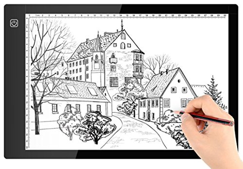 A4-Ultra-thin-Portable-LED-Light-Box-Tracer-USB-Power-Cable-Dimmable-Brightness-LED-Artcraft-Tracing-Light-Pad-Light-Box-for-Artists-Drawing-Sketching-Animation-Designing-Stencilling-X-ray-Viewing
