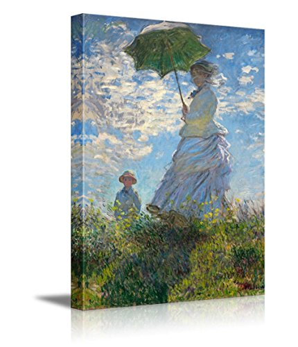 Woman with a Parasol Madame Monet and Her Son by Claude Monet Giclee ped Gallery