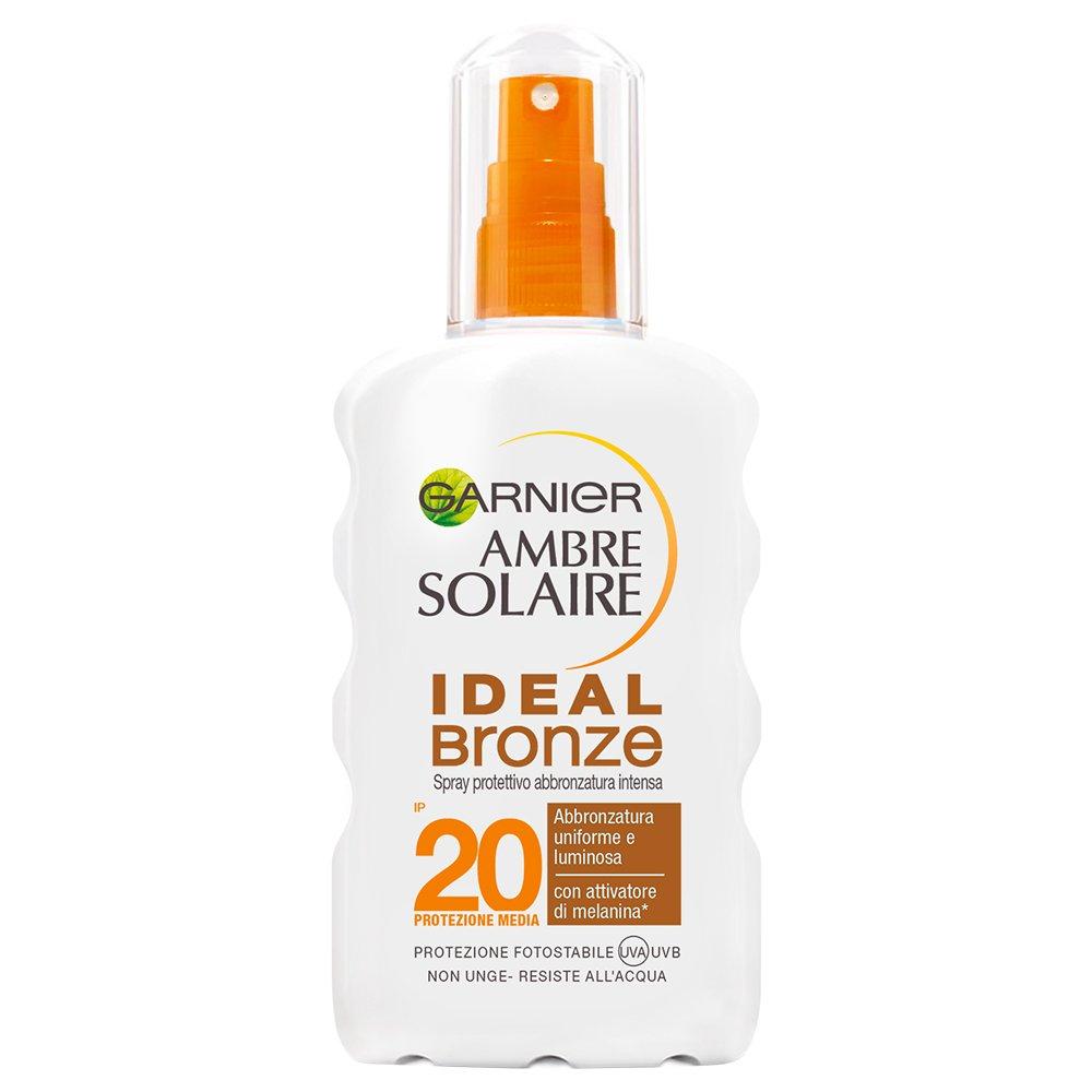 Garnier Ambre Solaire Crema Solare Abbronzatura Intensa, Protezione Solare in Spray Ideal Bronze, IP30, Resistente all'Acqua, 200 ml Resistente all' Acqua C4725514