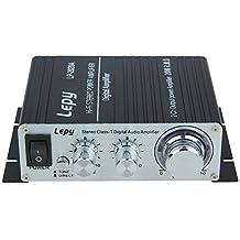 Lepy LP-2020A Class-D Hi-Fi Audio Mini Amplifier with US Power Supply Black