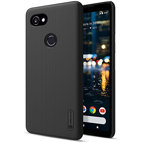 Nillkin Case (Google Pixel 2 XL Case, Nillkin Frosted Shield Hard Case Back Cover [with Screen Protector] for Google Pixel 2 XL - Black)