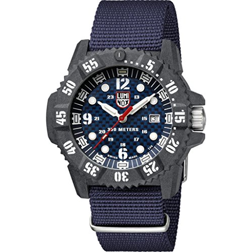 Luminox Deep Dive Carbon Seal Limited Edition 3803 Watch | - Blue/White - 46mm ()