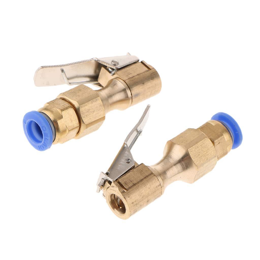 Sharplace 1 Par Pinza de Boquilla de Compresor de Aire de Bicicleta de Coche Clip de 8 mm Conector de Válvula de Neumático: Amazon.es: Coche y moto