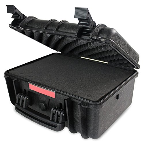 Bulletproof Camera (Bulletproof Camera & Accessories Case for Canon, Nikon & GoPro - Hard Shell, Lockable Large Waterproof Extreme Weather for Lens & Accessories ,)
