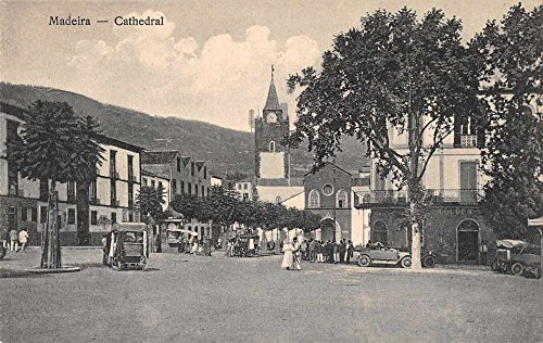- Madeira Cathedral Street Scene Antique Postcard J65776