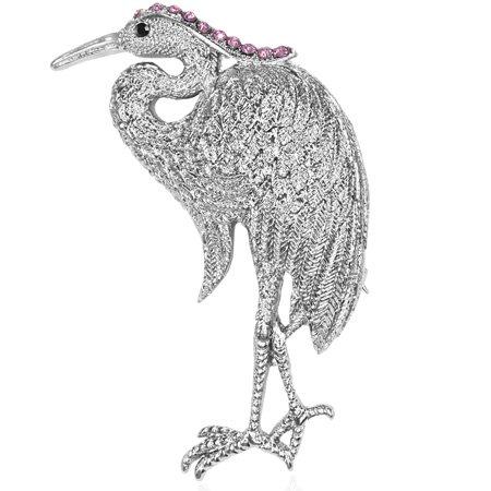 Fashion Alloy Flamingo Silver-