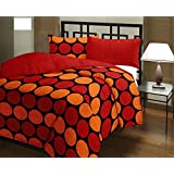 RajasthaniKart Classic Dohars 180 TC Polycotton Single Reversible AC Blanket - Geometric, Red