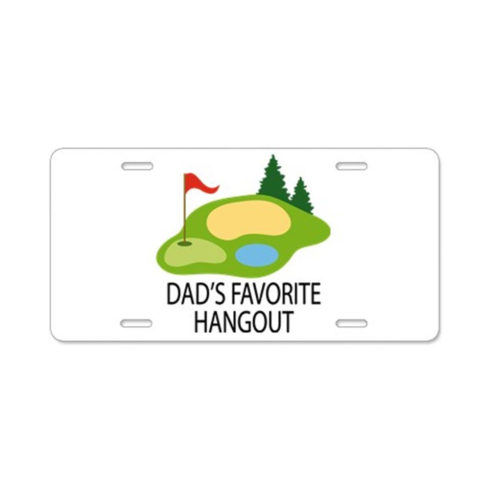 60f87252c089 Amazon.com  CafePress - Golf Dad Funny Golfing License Plate Gift -  Aluminum License Plate