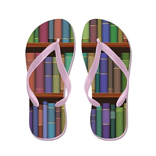 Cafepress Bibliothecaris Boek Liefhebber - Flip Flops, Grappige String Sandalen, Strand Sandalen Roze