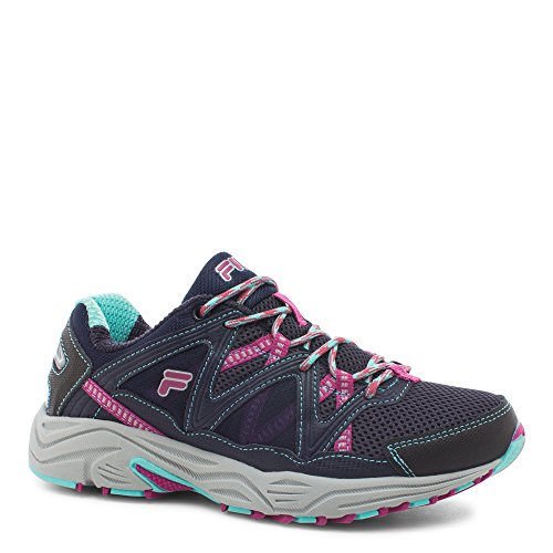 Fila Women's Vitality V Running Shoe, Navy/Aruba Blue/Fuchsia, 7.5 M (Fila Athletic Shoes)