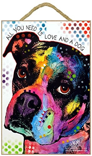 Pop Art Boxer - (SJT78220) Boxer - All you need is love and a dog 7