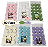 Scented Premium Tealight Candle Wax, Assorted Colors (90 pc)