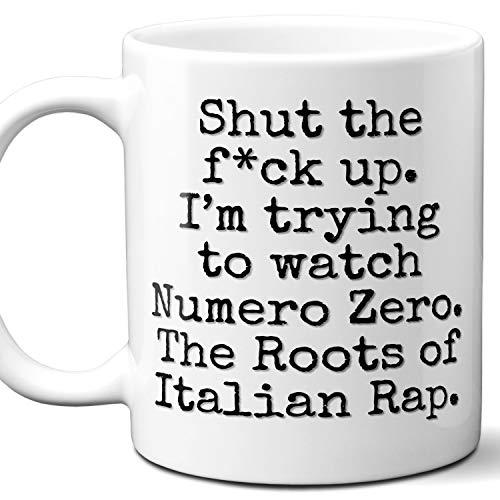 Numero Zero. The Roots of Italian Rap Movie Parody Gift Mug. 11 oz.