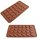 2 Pack - 24 Cavity Maple Leaves Ice Cube Tray Fondant Silicone Mold Sugar Chocolate Mold Candy Molds