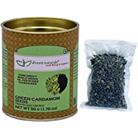 dhaani naturals Green Cardamom Seeds 50 gm Paper Tube Pesticide Free Farm Direct Premium Quality
