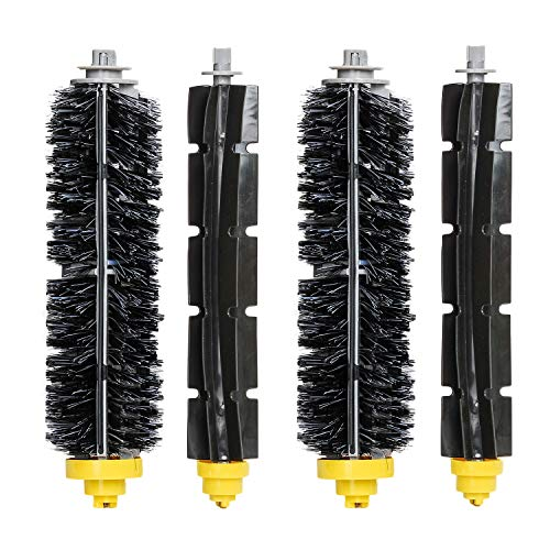 HIFROM Replacement Bristle and Flexible Beater Brush for iRobot Roomba 600 Series 680 660 655 651 650 Vacuum Accessory, Bristle Brush & Flexible Beater Brush (2 Set)