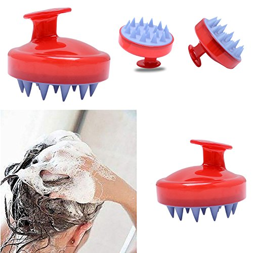 Casfine Shampoo Brush Scalp Massaging , Hair Scalp Brush Shampoo Massager, Hand Held Scalp Massager, Washing Hair Brush