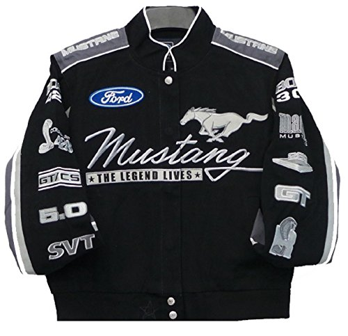 Twill Ford Jacket Mustang - Ford Mustang Collage Women Twill Jacket JH Design Size Large