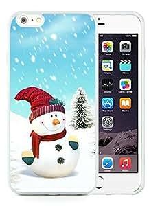 Diy iPhone 6 Plus Case,Christmas snowman White iPhone 6 Plus 5.5 PC Case 5