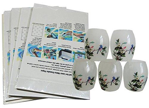 - Inkjet Decal Water Transfer Paper - EDIY 20 Sheets DIY A4 Size Clear Inkjet Print Waterslide Decal Paper Image Transfer Paper Sheets(Transparent)