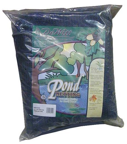 - Dewitt PN302020 Deluxe Pond Protection Net, 20 Foot x 20 Foot Size: 20'X20' Outdoor, Home, Garden, Supply, Maintenance