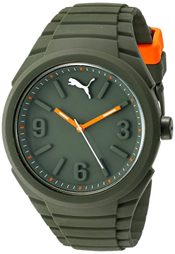 Unisex Silicone Sports Quartz Watches Green - 3
