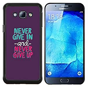 Dragon Case - FOR Samsung Galaxy A8 A8000 - never give in up mint green purple - Caja protectora de pl??stico duro de la cubierta Dise?¡Ào Slim Fit