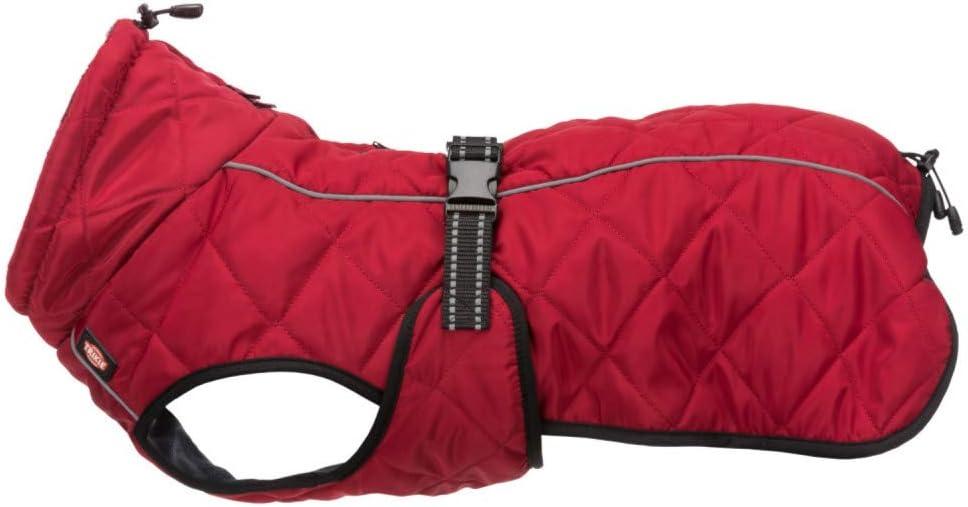 TRIXIE Abrigo Minot, L: 55cm: 60–83 cm, Rojo, Perro