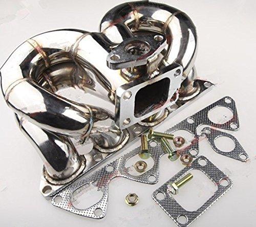 Gowe Turbo für Honda B-Serie T3Turbo Edelstahl Auspuff ram-horn 38mm Verwendung bei PKW und Motorrädern Flansch