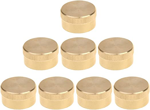 Prettyia 8Pcs Propane Tank Cap Heavy Duty Brass 1 LB Cylinder Protect Caps – Helps Prevent Leaks, Protect The Threads and Seals Out Dirt