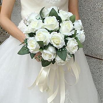 Wanglele Hochzeit Blumen Blumenstrausse Hochzeit Seide 9 84 Weiss