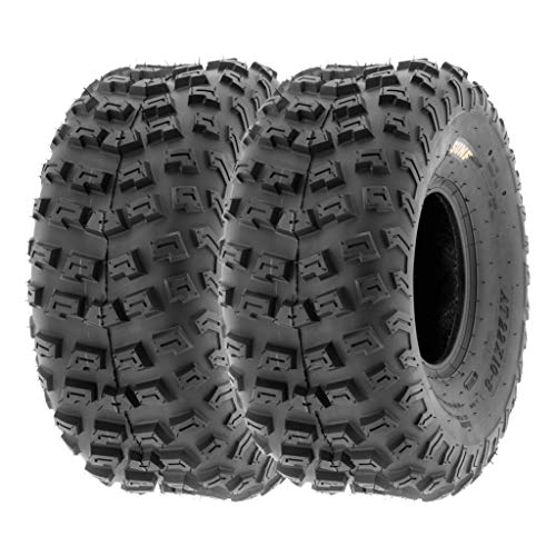 SunF 22x10-8 22x10x8 ATV UTV A/T Knobby Race Replacement 6 PR Tubeless Tires A030, [Set of 2] (Best Tire Size For 22 Inch Rims)
