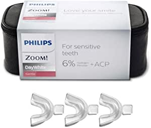 DayWhite Philips Zoom 6% Day White Hydrogen Peroxide Teeth Whitening Gel Kit And 3 X Thermoforming Bleach Trays | 6 X 2.4Gram Syringes | Zipper Bag & Mouth Tray Case Included